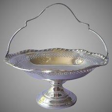 Sterling Silver Bonbon Basket Vintage Tea or Luncheon Table