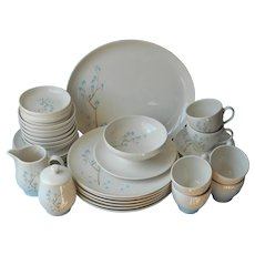 Turquoise Brown Set 1950s China Spring Melody Sloan China Lenore