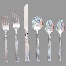 Gay Adventure 1955 Service For 8 Flatware Vintage Silver Plated