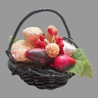 Vintage Pin Fruit Basket Japan A Bit TLC