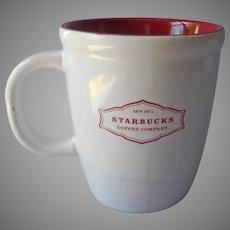 Starbucks Mug Craquelure Faux Crazing Deep Pink Lining Retired