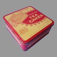 Savannah Georgia Vintage Cookie Tin Red Yellow Byrd's Wild Rice Tea Cakes