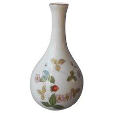Wedgwood Wild Strawberry 5.25 Inch Bud Vase Vintage Bone China