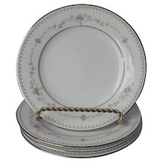 Noritake Fairmont 4 Bread Plates Vintage China