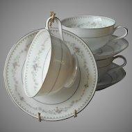 Noritake Fairmont 3 Cups Saucers  Vintage China