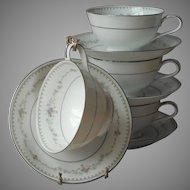 Noritake Fairmont 4 Cups Saucers  Vintage China