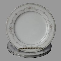 Noritake Fairmont 3 Salad Plates Vintage China