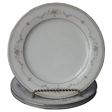 Noritake Fairmont 3 Salad Plates Vintage China