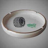 Rare Safemark Tire Tires Vintage 1950s Advertising Ashtray Porcelain Mid Century