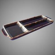 Pfaltzgraff Brown Drip Long Relish Tray Vintage