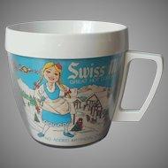 Swiss Miss Advertising Premium Mug Vintage Plastic Thermo Serv