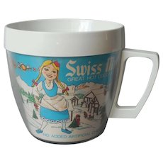 Swiss Miss Advertising Premium Mug Vintage Plastic Thermo Serv