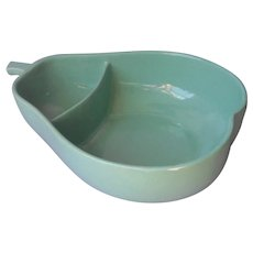 Mid Century Pfaltzgraff Big Pear Aqua Serving Bowl Salad and Dressing Chips and Dip