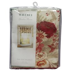Waverly Vintage Rose Norfolk Garden Room Tab Top Valance 60 x 17 Original Package