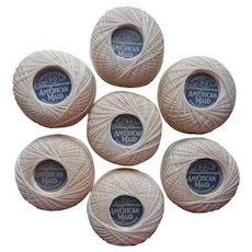 1920s Cordonnet Thread 7 Balls Size 30 125 Yards Each Vintage Collingbourne's