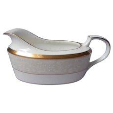 Noritake White Palace Gold Bone China Gravy Sauce Boat UNUSED