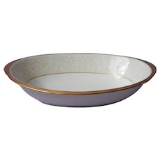 Noritake White Palace Gold Bone China Vegetable Serving Bowl UNUSED