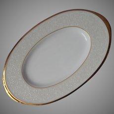 Noritake White Palace Gold Bone China Butter Relish Dish Plate Gravy  UNUSED