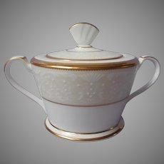 Noritake White Palace Gold Bone China Sugar Bowl UNUSED