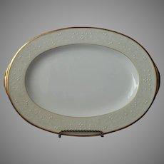 Noritake White Palace Gold Bone China Platter UNUSED