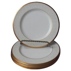 Noritake White Palace Gold Bone China 4 Bread Plates UNUSED