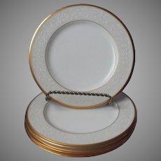 Noritake White Palace Gold Bone China 4 Bread Plates UNUSED