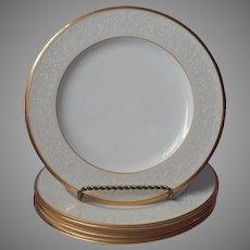 Noritake White Palace Gold Bone China 4 Salad Plates UNUSED