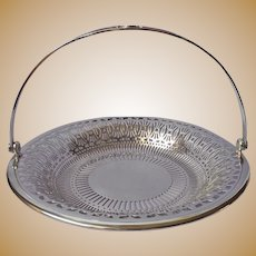 1920s Apollo Silver Plated Basket Vintage Pierced Fruit Sweets Luncheon Tea Table