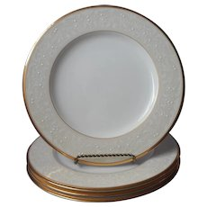 Noritake White Palace Gold Bone China 4 Dinner Plates UNUSED