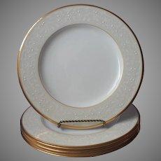 Noritake White Palace Gold Bone China 4 Dinner Plates UNUSED