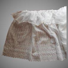 Bassinet Skirt Organdy Eyelet Lace Ruffle Vintage