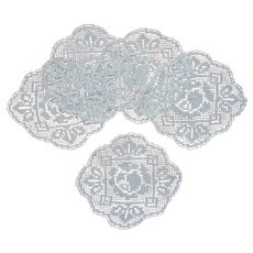 1910s Filet Lace Finger Bowl Doilies Vintage Use Under Figurines Vases Etc
