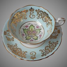 Paragon Cup And Saucer Commemorative Queen Elizabeth Visit To USA Canada 1957