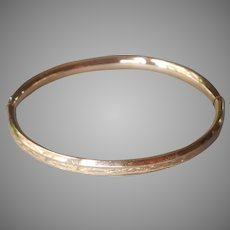 Small Child's Gold Filled Hinged Bangle Bracelet Very Vintage