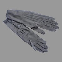Unworn Silk Gloves Very Vintage Lichen Gray Ladies Extra Small XS XXS