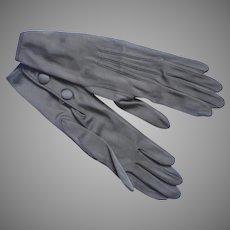Unworn Silk Gloves Very Vintage Lichen Gray Ladies Extra Small XS XXS