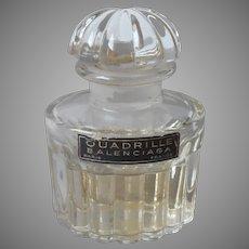 French Perfume Bottle Vintage Balenciaga Quadrille