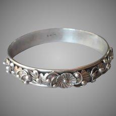 Native American Keith James Bracelet Sterling Silver Bangle