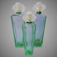 Empty Green Glass Gardenia Perfume Bottles Elizabeth Taylor Bottle