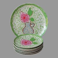 Gloria Vanderbilt Sincerely Yours Set Plates Serving Platter Vintage Sigma