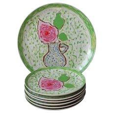 Gloria Vanderbilt Sincerely Yours Set Plates Serving Platter Vintage Sigma