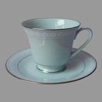Noritake Wedding Veil Standard Footed Cup and Saucer