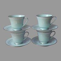 Noritake Wedding Veil 4 Cups and Saucers Vintage