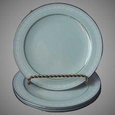 Noritake Wedding Veil 3 Bread Plates Vintage