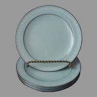 Noritake Wedding Veil 4 Bread Plates Vintage