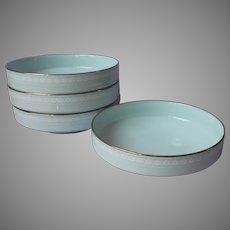 Noritake Wedding Veil 4 Soup Cereal Salad Bowls Vintage