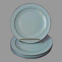 Noritake Wedding Veil 4 Salad Plates Vintage