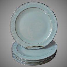 Noritake Wedding Veil 5 Dinner Plates Vintage