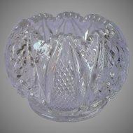 Tiny Rose Bowl Vase Antique EAPG Pressed Glass