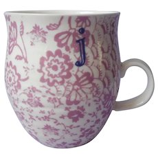 Monogram J Initial Retired Anthropologie Homegrown Mug
